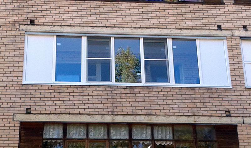 Остекление лоджий 6 метров пластиковыми окнами цены..